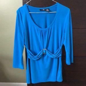 3/4 sleeve length pretty blue top